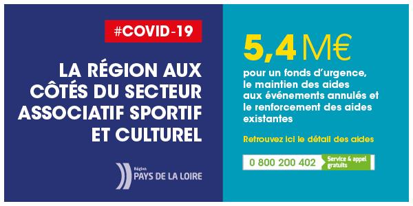 Covid 19 La Région aux côtés du secteur associatif sportif et culturel