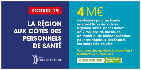 La Région aux côtés des personnels de santé
