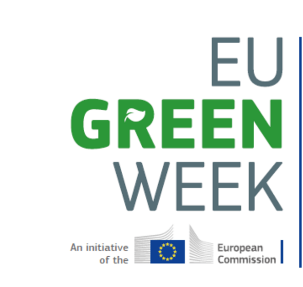 Logo avec texte : Europe Green Week, an initiative of the European Commission.